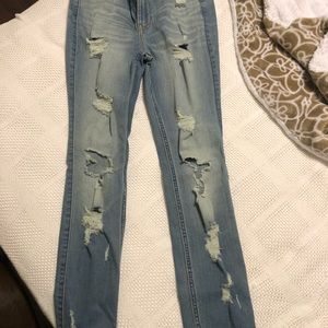 Denim - Hollister ripped skinny jeans